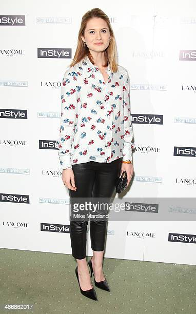 Bonnie Wright attends InStyle magazine's The Best of British Talent preBAFTA party at Dartmouth House on February 4 2014 in London England