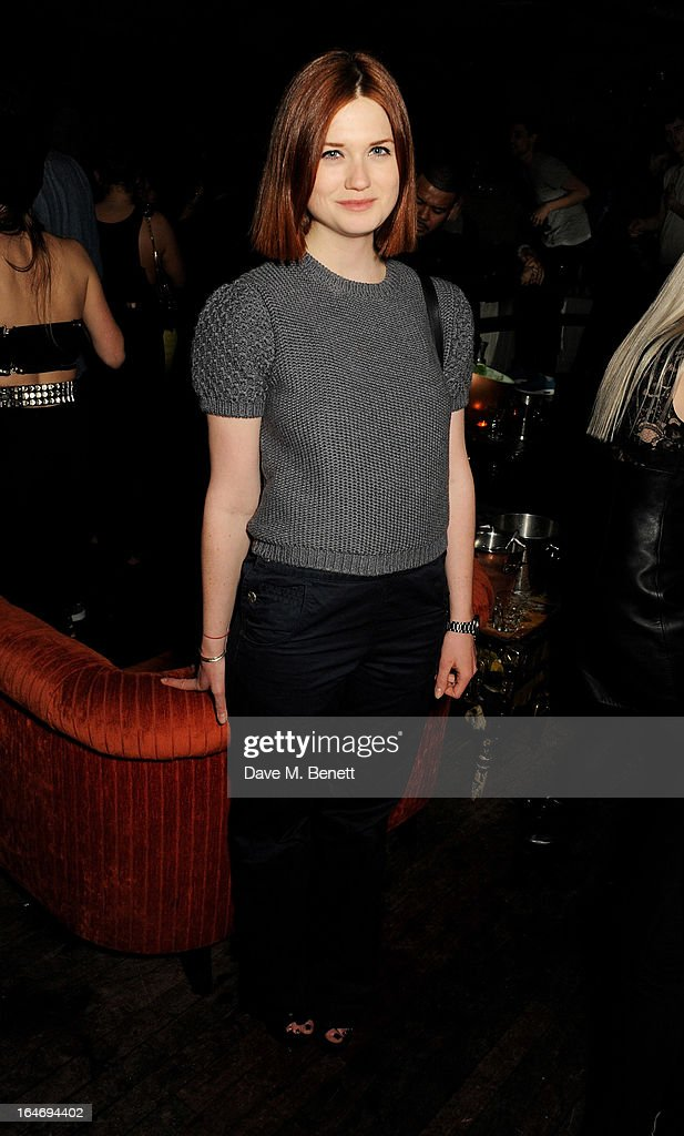 Bonnie Wright attends the ABSOLUT Elyx launch party at The Box Soho on March 26, 2013 in London, England.