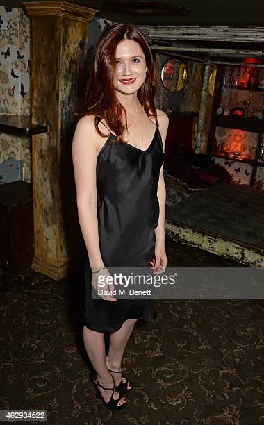Bonnie Wright attends The Box 4th Birthday Party in partnership with Belvedere Vodka at The Box on February 7 2015 in London England