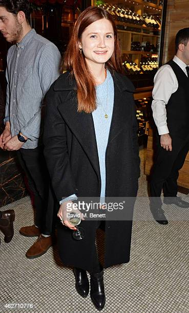 Bonnie Wright attends the launch of 'A Collection Of Contemporary British Love Poetry' at Fortnum Mason on February 3 2015 in London England
