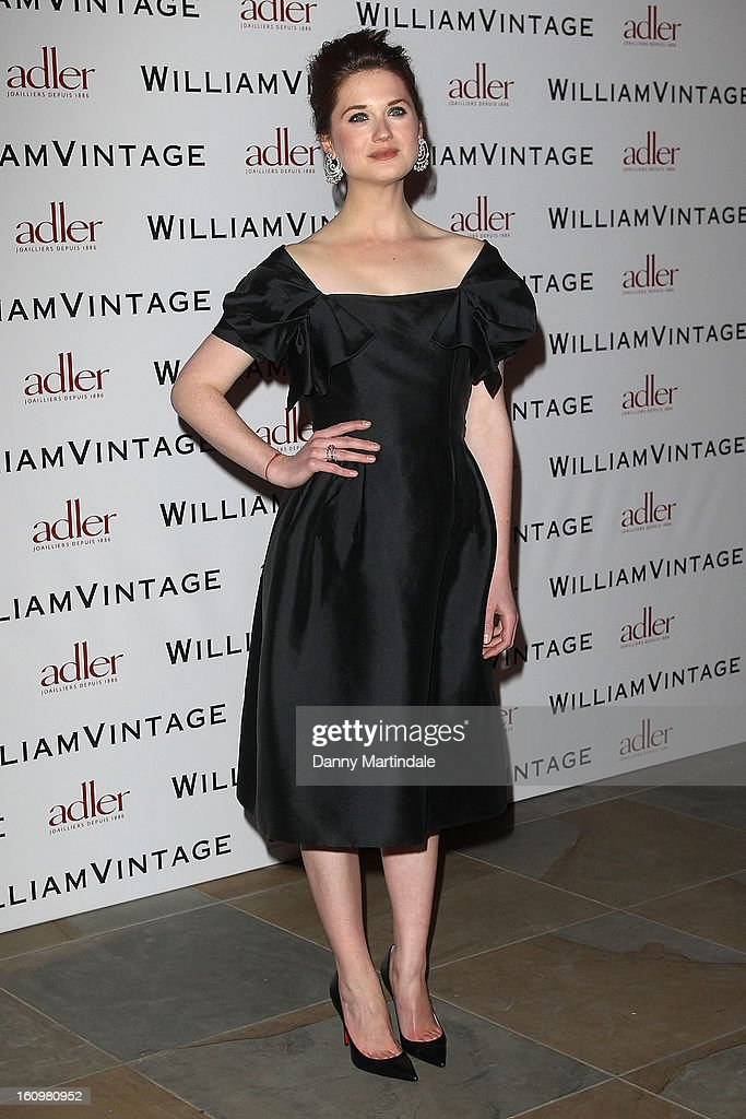 Bonnie Wright attends the WilliamVintage Dinner Sponsored By Adler at St Pancras Renaissance Hotel on February 8, 2013 in London, England.
