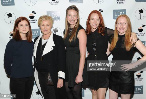 Bonnie Wright DeborraLee Furness Global Poverty Project US Country Director Justine Lucas Tamzin Merchant and Live Below the Line Campaign Associate...