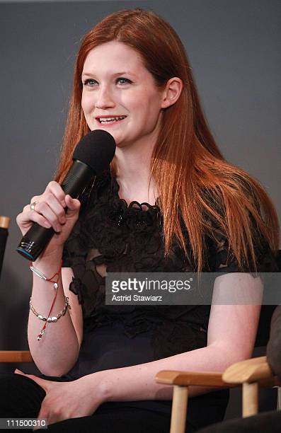 Bonnie Wright visits the Apple Store Soho on April 3 2011 in New York City