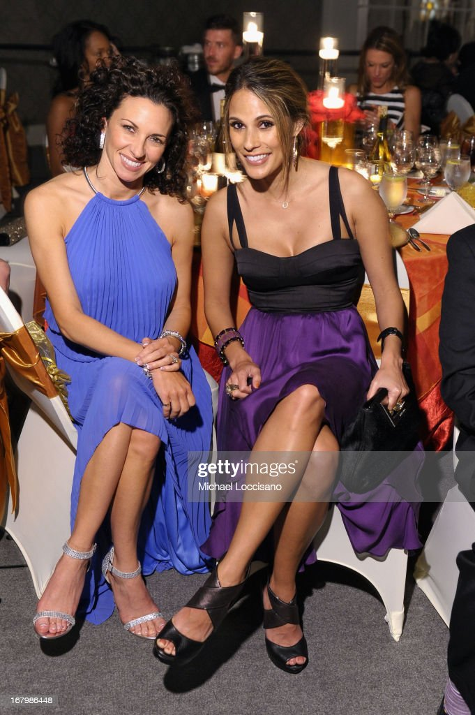 <a gi-track='captionPersonalityLinkClicked' href=/galleries/search?phrase=Bonnie-Jill+Laflin&family=editorial&specificpeople=240579 ng-click='$event.stopPropagation()'>Bonnie-Jill Laflin</a> (R) and Hollie Huggins attend the Unbridled Eve Gala for the 139th Kentucky Derby at The Galt House Hotel & Suites' Grand Ballroom on May 3, 2013 in Louisville, Kentucky.
