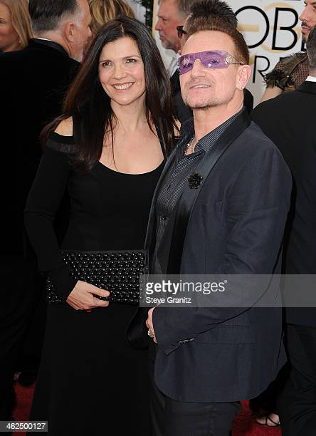 Bono and Alicia Hewson arrives at the 71st Annual Golden Globe Awards at The Beverly Hilton Hotel on January 12 2014 in Beverly Hills California
