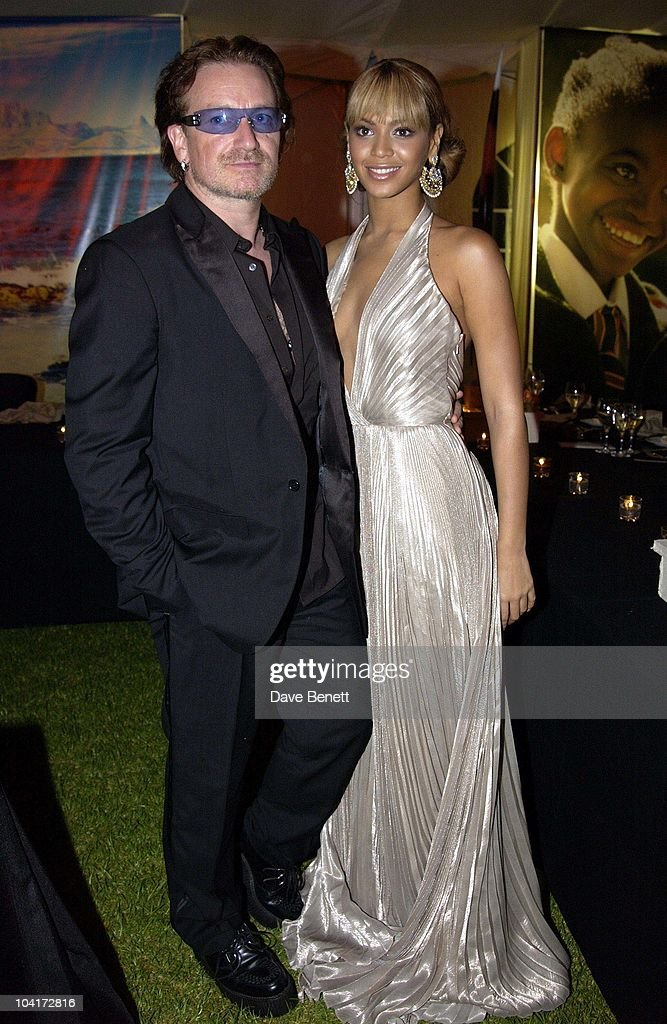 Bono (u2) And Beyonce Knowles, The Stars Of Rock And Roll Join Forces For Nelson Mandela's 46664 Concert In Cape Town, South Africa. In The Pre, Concert Build Up, This Evening A Gala Dinner Was Held At The Vergelegen Estate Outside Cape Town, South Africa Gears Up For Aids Awareness Mandela Concert 46664. The Concert Is In Association With Mtv's Staying Alive & Www.46664.com Powered By Tiscali.