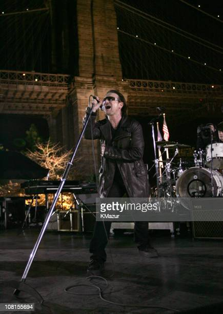 Bono and Larry Mullen Jr of U2 spend the day on the streets of New York City shooting a video for their new album How to Dismantle an Atomic Bomb...