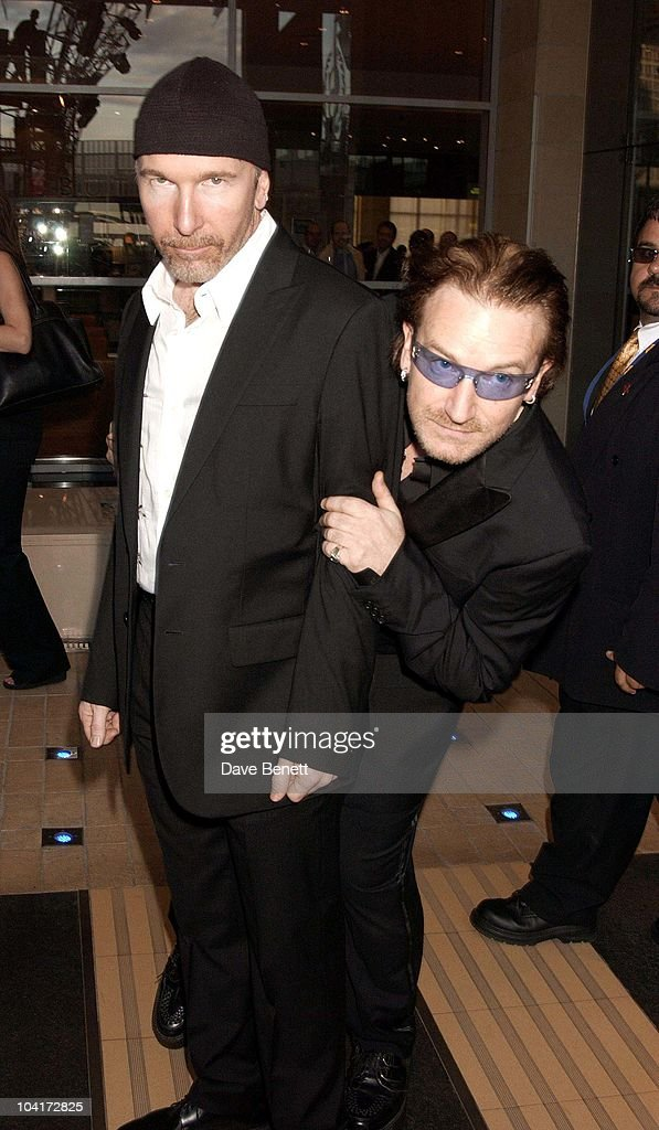 Bono And The Edge (u2), The Stars Of Rock And Roll Join Forces For Nelson Mandela's 46664 Concert In Cape Town, South Africa. In The Pre, Concert Build Up, This Evening A Gala Dinner Was Held At The Vergelegen Estate Outside Cape Town, South Africa Gears Up For Aids Awareness Mandela Concert 46664. The Concert Is In Association With Mtv's Staying Alive & Www.46664.com Powered By Tiscali.