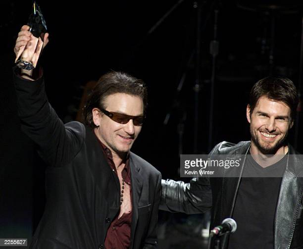 Bono and Tom Cruise at the 1st Annual Entertainment Industry Foundation's 'Love Rocks' concert to honor U2's Bono and launch EIF's National...