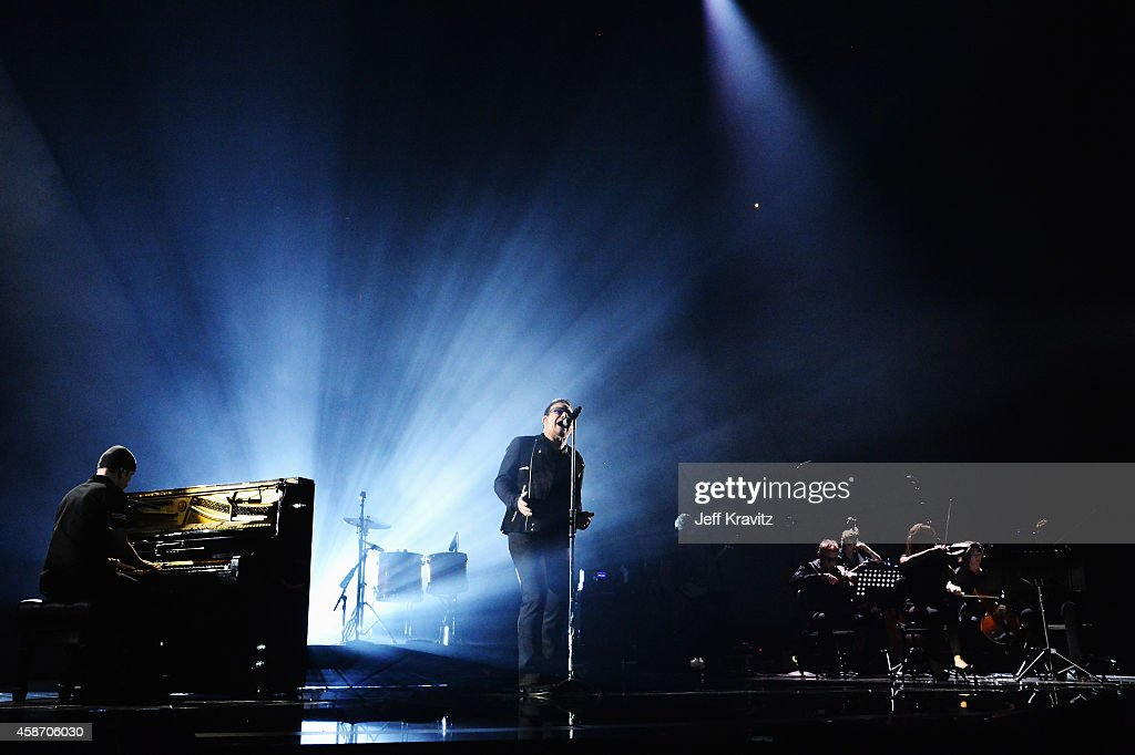 Bono and U2 perform at the MTV EMA's 2014 at The Hydro on November 9, 2014 in Glasgow, Scotland.