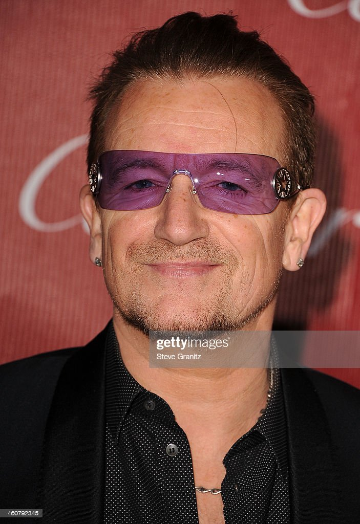 <a gi-track='captionPersonalityLinkClicked' href=/galleries/search?phrase=Bono+-+Singer&family=editorial&specificpeople=167279 ng-click='$event.stopPropagation()'>Bono</a> arrives at the 25th Annual Palm Springs International Film Festival Awards Gala at Palm Springs Convention Center on January 4, 2014 in Palm Springs, California.