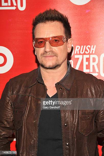 Bono attends And Beats By Dr Dre Kick Off RUSH TO ZERO Campaign at Beats By Dr Dre Store on June 2 2012 in Soho in New York City Photo by Gary...