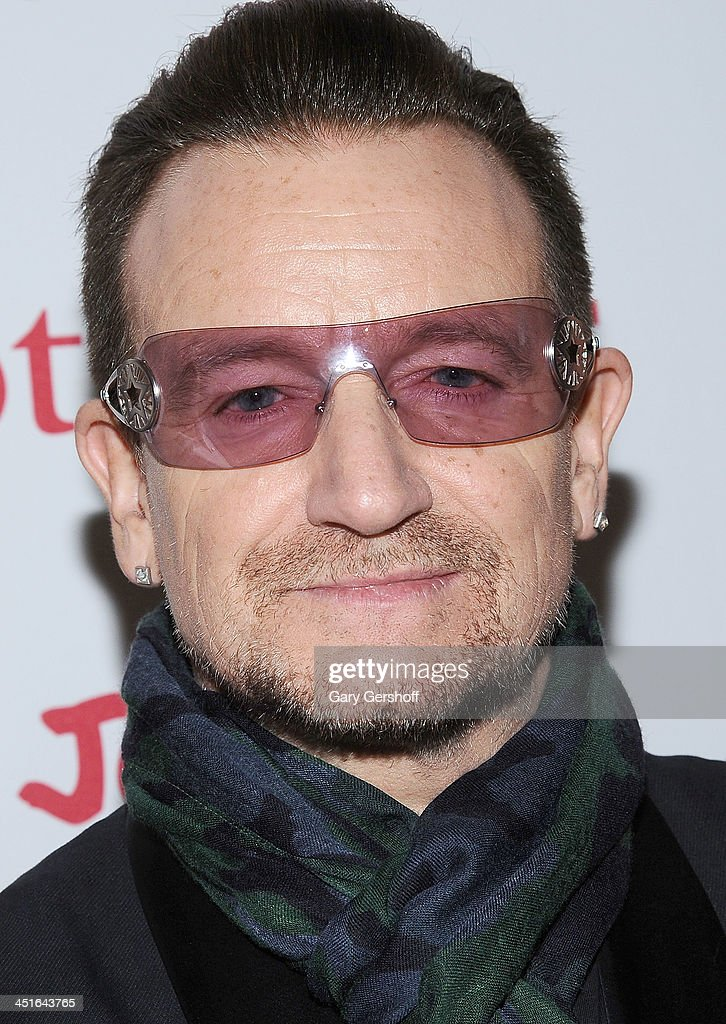 <a gi-track='captionPersonalityLinkClicked' href=/galleries/search?phrase=Bono+-+Singer&family=editorial&specificpeople=167279 ng-click='$event.stopPropagation()'>Bono</a> attends the 2013 (RED) Auction Celebrating Masterworks Of Design and Innovation at Sotheby's on November 23, 2013 in New York City.