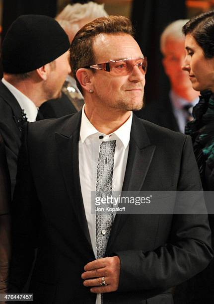 Bono attends the 2014 Vanity Fair Oscar Party hosted by Graydon Carter on March 2 2014 in West Hollywood California