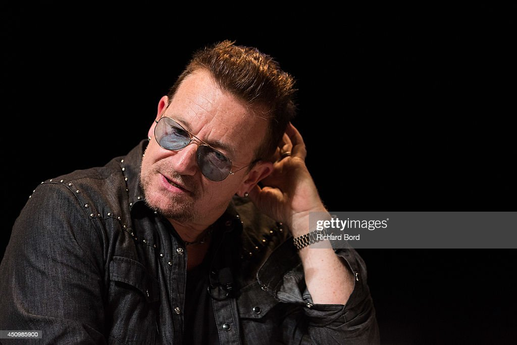 Bono attends the 'Bono and Jonathan Ive Seminar' during the 2014 Cannes Lions Festival on June 21, 2014 in Cannes, France.