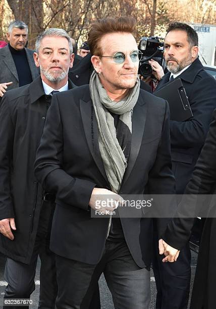 Bono attends the Dior Homme Menswear Fall/Winter 20172018 show as part of Paris Fashion Week on January 21 2017 in Paris France