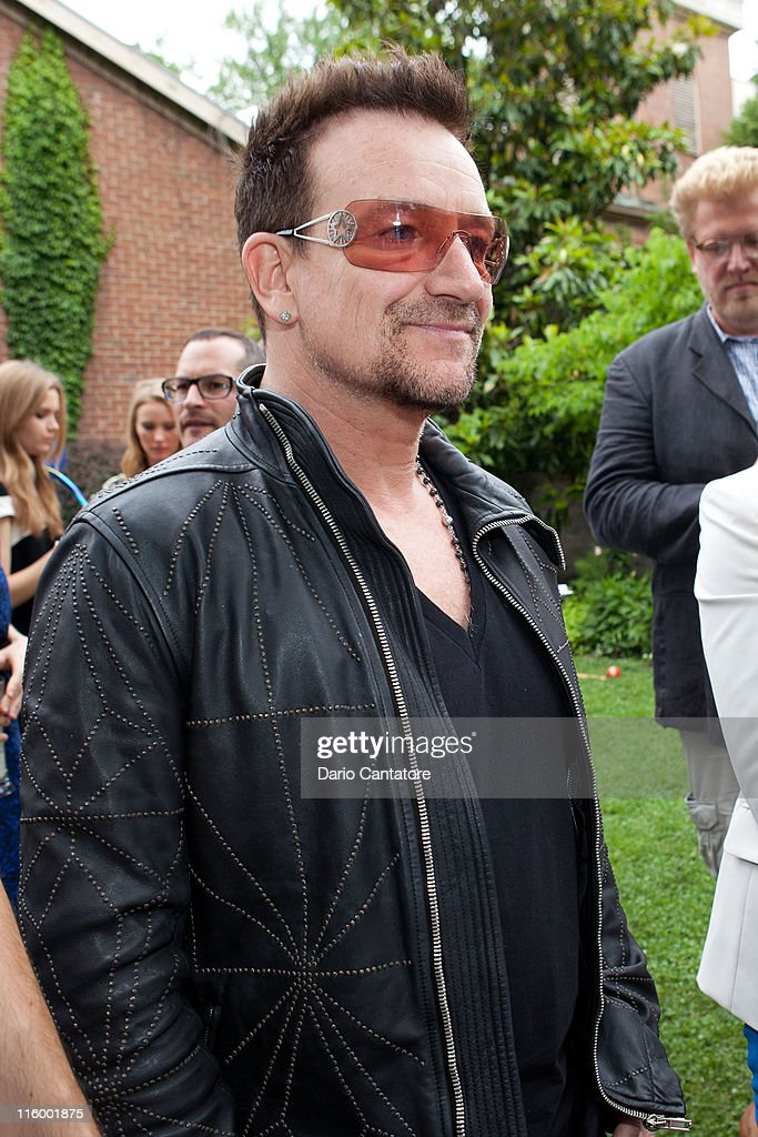<a gi-track='captionPersonalityLinkClicked' href=/galleries/search?phrase=Bono+-+Singer&family=editorial&specificpeople=167279 ng-click='$event.stopPropagation()'>Bono</a> attends the Stella McCartney Spring 2012 Presentation at a Private Location on June 13, 2011 in New York City.