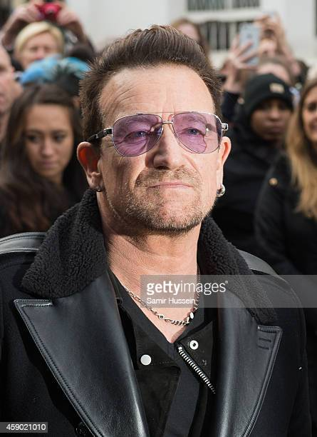 Bono attends to record the Band Aid 30 single on November 15 2014 in London England