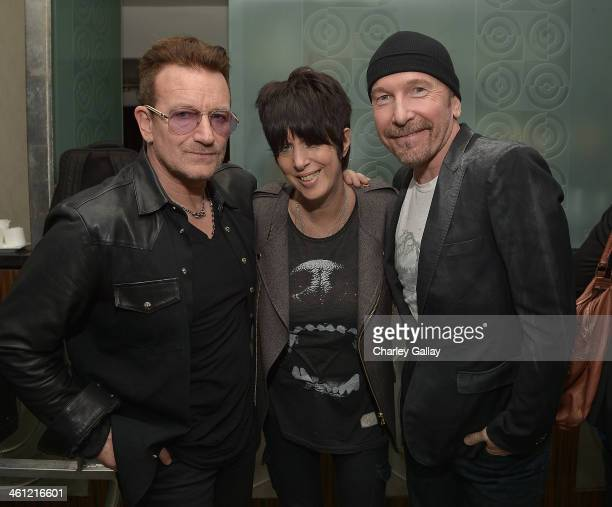 Bono Diane Warren and The Edge attend The Weinstein Company Hosts A Private Party With U2 In Support Of Their Original Song 'Ordinary Love' From...
