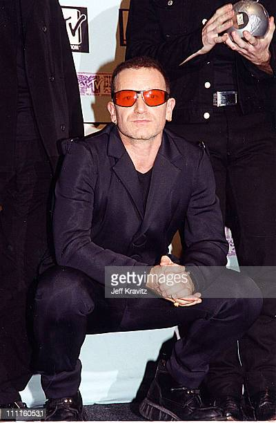 Bono during 1997 MTV Europe Music Awards in Los Angeles California United States