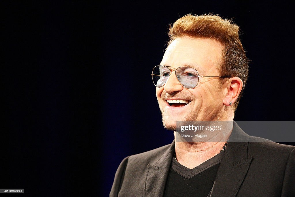 <a gi-track='captionPersonalityLinkClicked' href=/galleries/search?phrase=Bono+-+Singer&family=editorial&specificpeople=167279 ng-click='$event.stopPropagation()'>Bono</a> during the Nordoff Robbins 02 Silver Clef awards at London Hilton on July 4, 2014 in London, England.