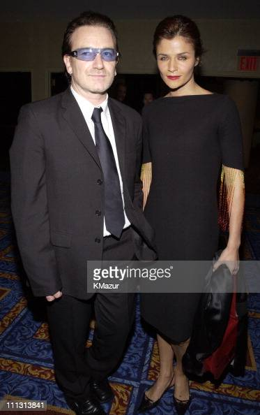 Bono Helena Christensen during Bono Honored with Humanitarian Laureate Award by the Simon Wiesenthal Center at Marriott Marquis Hotel in New York...