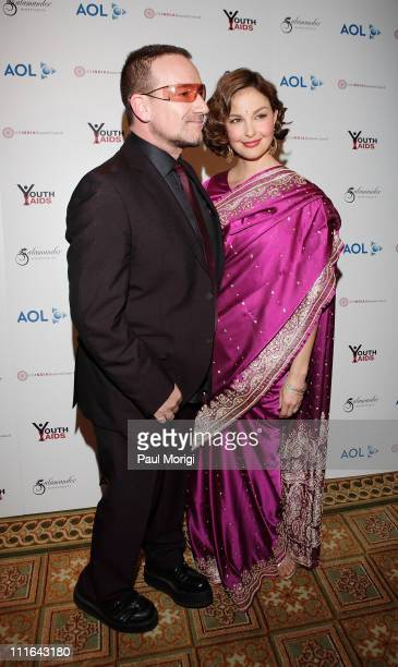 Bono Honored Guest Musician and Activist and Ashley Judd YouthAIDS Global Ambassador at the YouthAIDS Gala Faces of India at the RitzCarlton Tysons...