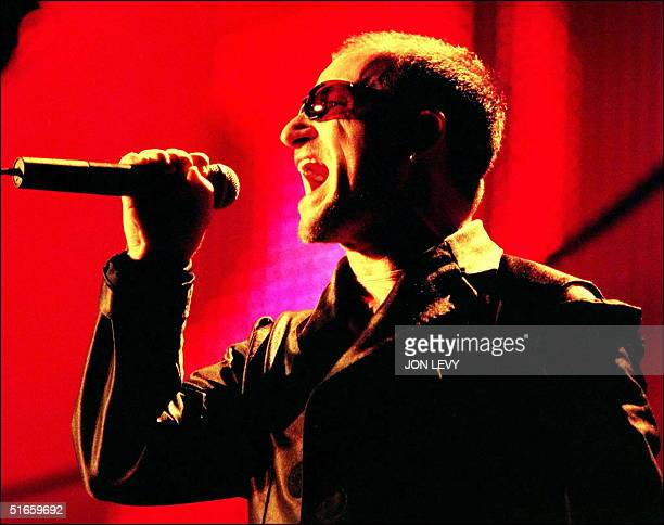 Bono lead singer of the rock band U2 sings to a sell out crowd 31 May at Giants Stadium in East Rutherford New Jersey Despite reports of poor ticket...