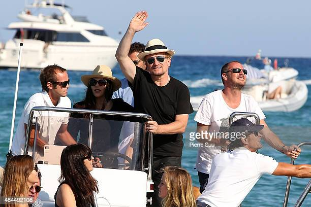 Bono leaves the 'Cub 55' on August 19 2015 in SaintTropez France