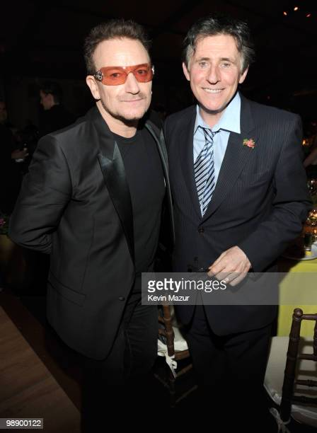 Bono of U2 and Gabriel Byrne attend the American Ireland Fund Gala at the Tent at Lincoln Center for the Performing Arts on May 6 2010 in New York...