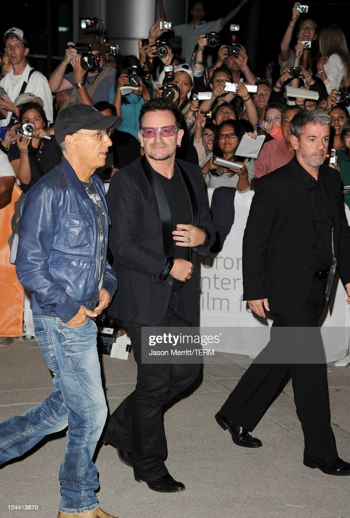 <a gi-track='captionPersonalityLinkClicked' href=/galleries/search?phrase=Bono+-+Singer&family=editorial&specificpeople=167279 ng-click='$event.stopPropagation()'>Bono</a> of U2 arrives at 'Ides Of March' Premiere at Roy Thomson Hall during the 2011 Toronto International Film Festival on September 9, 2011 in Toronto, Canada.