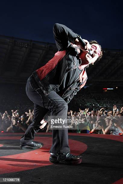 Bono of U2 during U2 'Vertigo' Tour at Stadio Olimpico in Rome July 23 2005 at Stadio Olimpico in Rome Italy