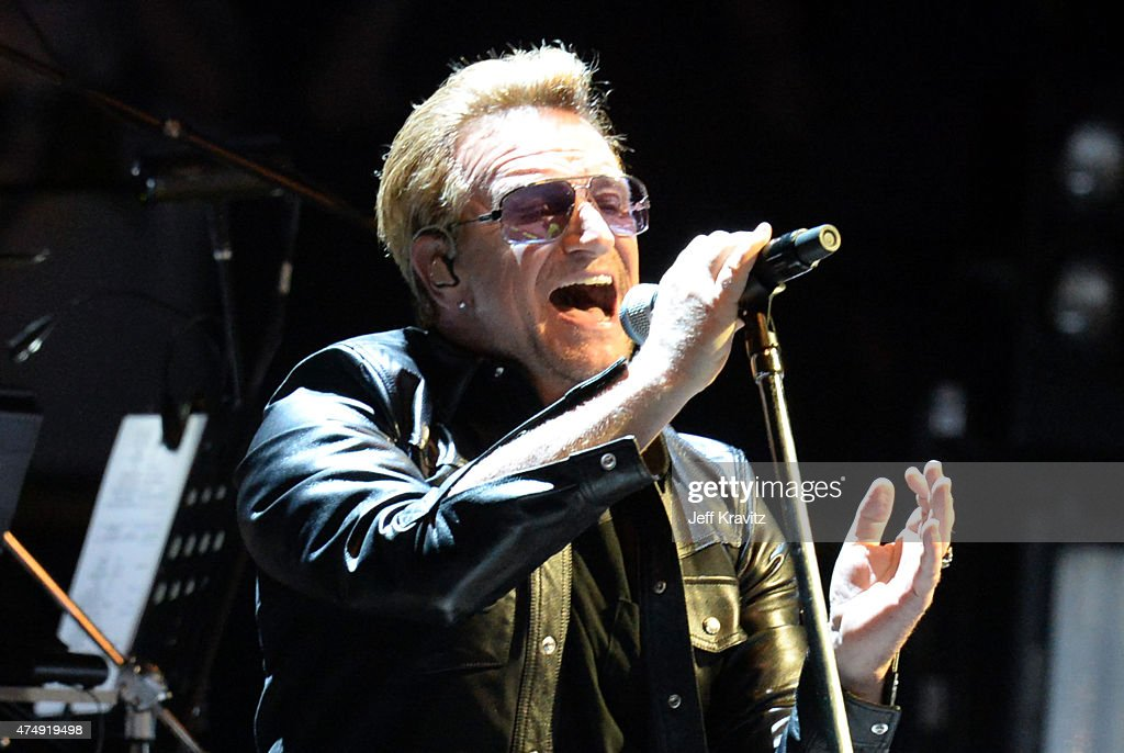 Bono of U2 performs at The Forum May 27 2015 in Inglewood California