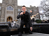 Bono of U2 performs on ABC's 'Good Morning America' at Fordham University on March 6 2009 in the Bronx New York