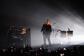 Bono of U2 performs on stage during the MTV EMA's 2014 at The Hydro on November 9 2014 in Glasgow Scotland