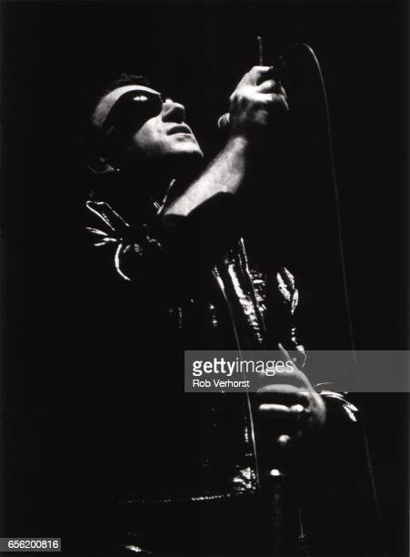Bono of U2 performs on stage on the Zoo TV Tour Ahoy Rotterdam Netherlands 15th June 1992