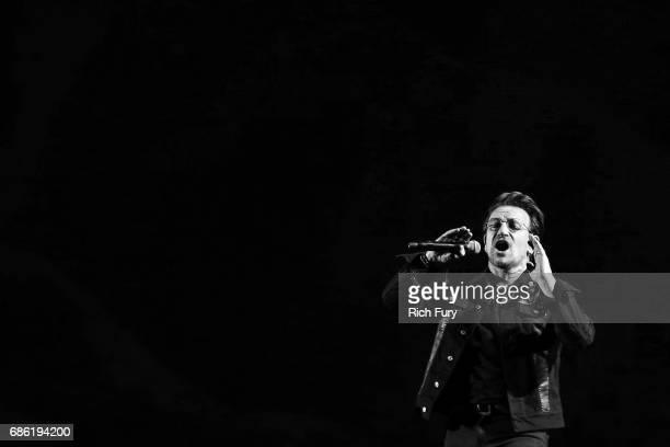 Bono of U2 performs onstage at the Rose Bowl on May 20 2017 in Pasadena California