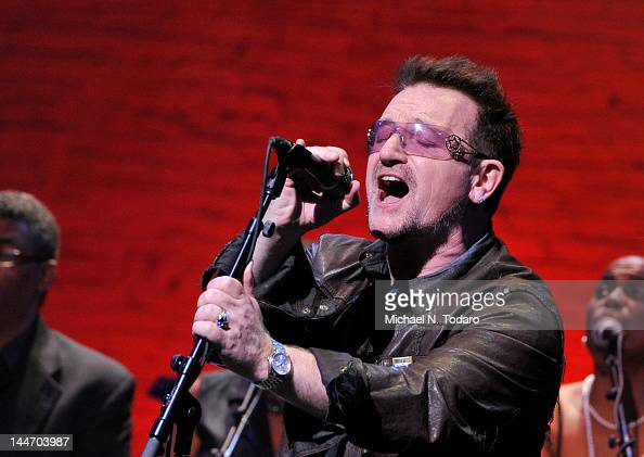 Bono performs at The Apollo Theater on May 17 2012 in New York City