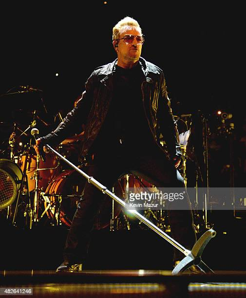 Bono performs onstage during the U2 'iNNOCENCE eXPERIENCE' tour at Madison Square Garden on July 31 2015 in New York City