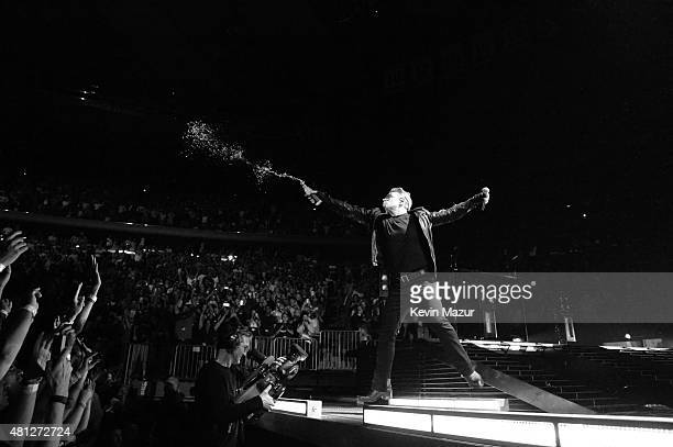 Bono performs onstage during U2's iNNOCENCE eXPERIENCE tour at Madison Square Garden on July 18 2015 in New York City