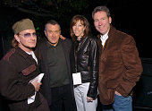 Bono Robert De Niro Tribeca Film Festival founder Jane Rosenthal and John Hayes Chief Marketing Officer of American Express backstage the American...