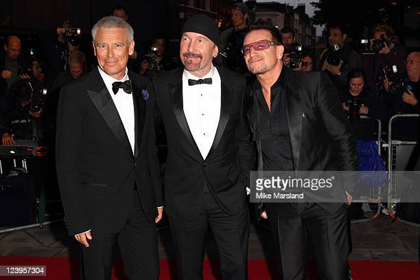 Bono The Edge and Adam Clayton arrive at the GQ Men Of The Year Awards at The Royal Opera House on September 6 2011 in London England