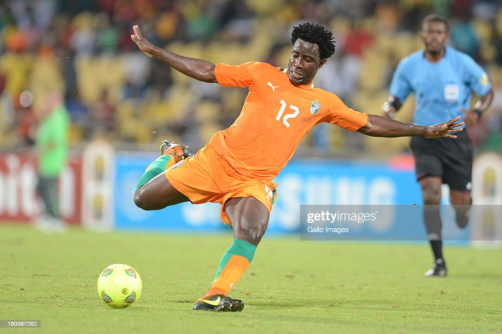 Bony Wilfried of Ivory Coast during the 2013 African Cup of Nations match between Algeria and Ivory Coast at Royal Bafokeng Stadium on January 30, 2013 in Rustenburg, South Africa.