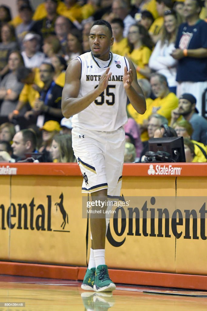 Bonzie Colson #35 of the Notre Dame Fighting Irish looks on during a the championship of the Maui Invitational college basketball game against the Wichita State Shockers at the Lahaina Civic Center on November 22, 2017 in Lahaina, Hawaii. The Fighting Irish won 67-66.