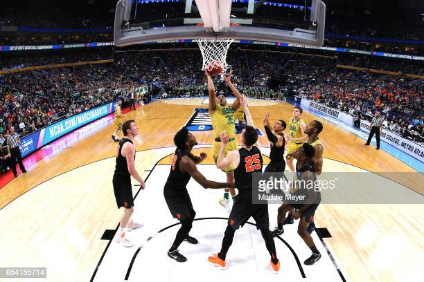 Bonzie Colson of the Notre Dame Fighting Irish shoots the ball against the Princeton Tigers during the first round of the 2017 NCAA Men's Basketball...