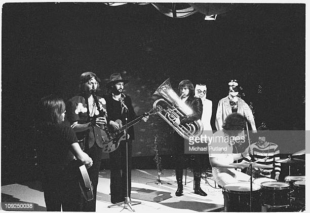 Bonzo Dog DooDah Band including Viv Stanshall and Neil Innes perform on Top Of The Pops TV show London 28th November 1968