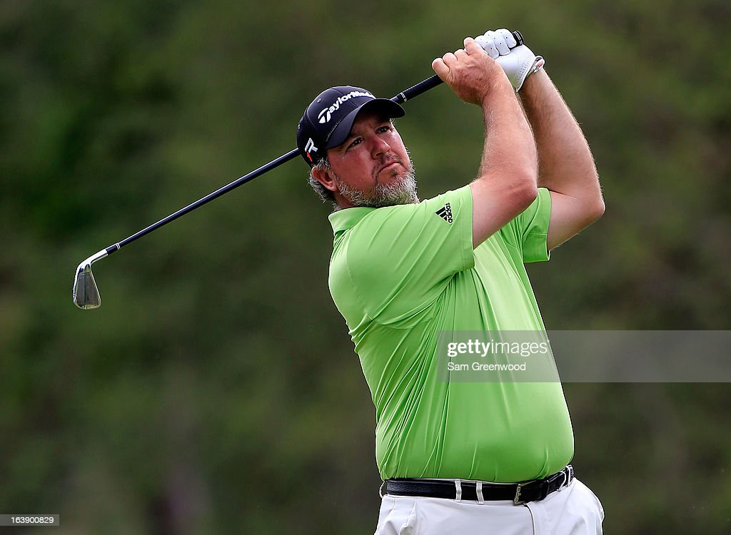 <a gi-track='captionPersonalityLinkClicked' href=/galleries/search?phrase=Boo+Weekley&family=editorial&specificpeople=3486615 ng-click='$event.stopPropagation()'>Boo Weekley</a> plays a shot on the 17th hole during the final round of the Tampa Bay Championship at the Innisbrook Resort and Golf Club on March 17, 2013 in Palm Harbor, Florida.