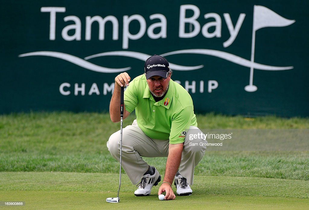 Boo Weekley plays a shot on the 17th hole during the final round of the Tampa Bay Championship at the Innisbrook Resort and Golf Club on March 17, 2013 in Palm Harbor, Florida.