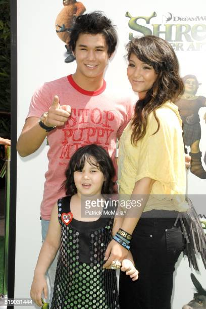 Booboo Stewart and Fivel Stewart attend 'Shrek Forever After' Los Angeles Premiere at Gibson Amphitheatre on May 16 2010 in Universal City CA