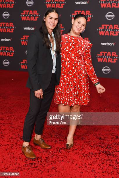 Booboo Stewart and Sage Stewart attend Premiere Of Disney Pictures And Lucasfilm's 'Star Wars The Last Jedi' Arrivals at The Shrine Auditorium on...